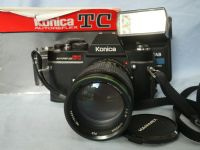 ' NICE SET ' Konica Autoreflex TC SLR Camera c/w 135mm   Lens + Inst + Flash  £22.99